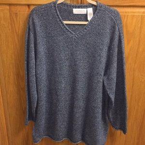 Blue v neck sweater 2x Liz Claiborne Woman